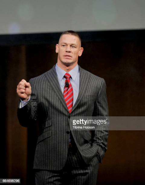 Professional wrestler and actor John Cena speaks during the final day luncheon and special program 'Amazon Studios Delivering the best in independent...
