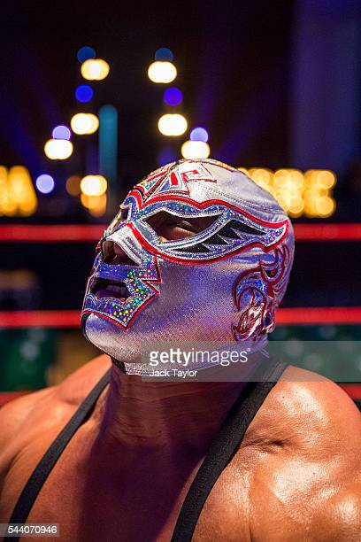 Professional wrestler and actor Silver King poses during a photo call at York Hall in Bethnal Green on July 1 2016 in London England A number of...