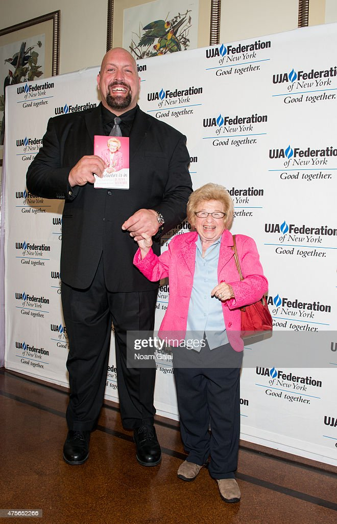 Professional wrestler Big Show and Dr. Ruth Westheimer attend the UJA-Federation New York's Entertainment Division Signature Gala at 583 Park Avenue on June 2, 2015 in New York City.