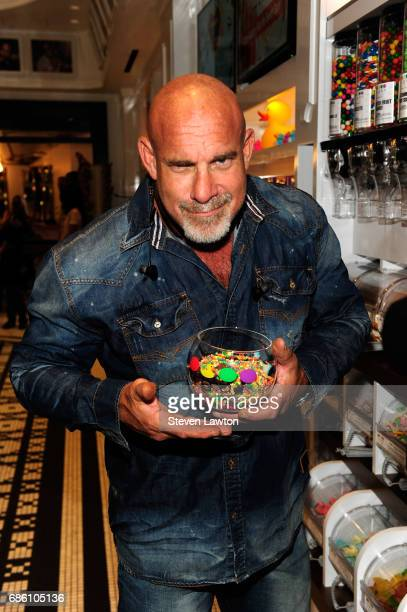 Professional wrestler Bill Goldberg poses during a meetandgreet at Sugar Factory American Brasserie at the Fashion Show mall on May 20 2017 in Las...