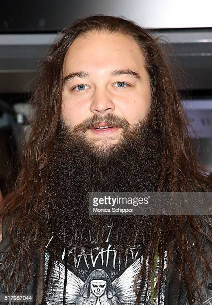 WWE professional wrestler Bray Wyatt attends WWE WrestleMania Stars Ring The NYSE Opening Bell at New York Stock Exchange on March 29 2016 in New...