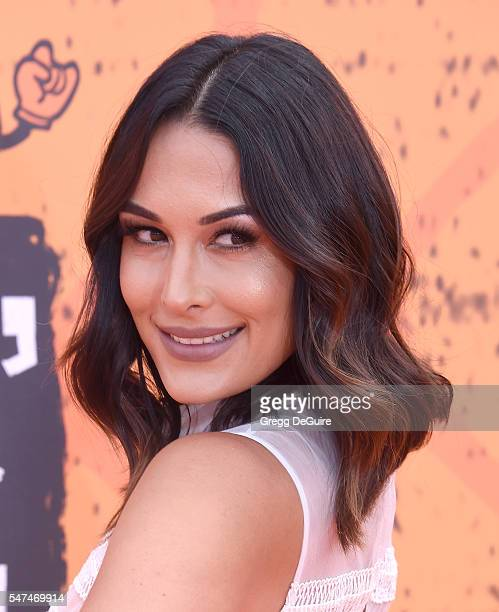 Professional wrestler Brie Bella arrives at Nickelodeon Kids' Choice Sports Awards 2016 at UCLA's Pauley Pavilion on July 14 2016 in Westwood...