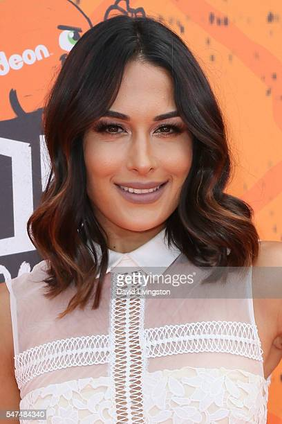 Professional wrestler Brie Bella arrives at the Nickelodeon Kids' Choice Sports Awards 2016 at the UCLA's Pauley Pavilion on July 14 2016 in Westwood...