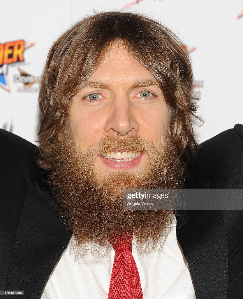 Professional wrestler Daniel Bryan attends the WWE SummerSlam press conference at Beverly Hills Hotel on August 13, 2013 in Beverly Hills, California.