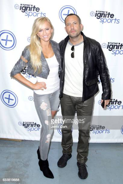 Professional wrestler Danielle Moinet aka Summer Rae and Cofounder of Talent Resources Sports David Spencer attend Turner Ignite Sports Luxury Lounge...