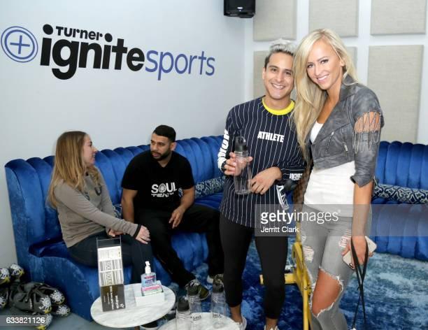 Professional wrestler Danielle Moinet aka Summer Rae attends Turner Ignite Sports Luxury Lounge on February 4 2017 in Houston Texas