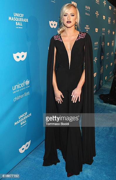 Professional wrestler Danielle Moinet at the fourth annual UNICEF Next Generation Masquerade Ball on October 27 2016 in Los Angeles California