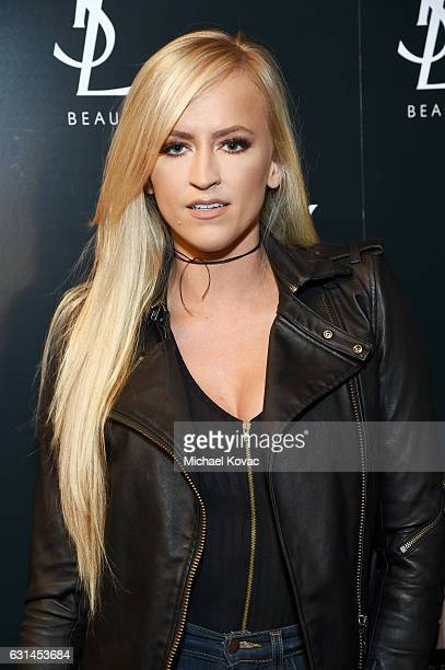 Professional wrestler Danielle Moinet attends the YSL Beauty Club Party at the Ace Hotel on January 10 2017 in Downtown Los Angeles California