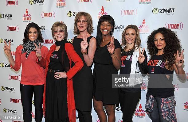Professional wrestler Eve Torres actress Jane Fonda actress Christine Lahti actress Sufe Bradshaw actress KaDee Strickland and Zumba celebrity...
