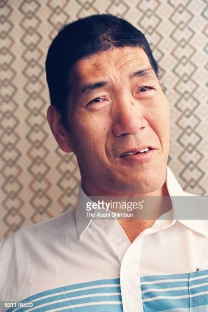 Professional Wrestler Giant Baba speaks during the Asahi Shimbun interview on August 11 1993 in Tokyo Japan