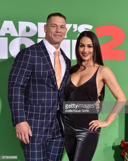Professional wrestler John Cena and Nikki Bella arrive at the premiere of Paramount Pictures' 'Daddy's Home 2' at Regency Village Theatre on November...