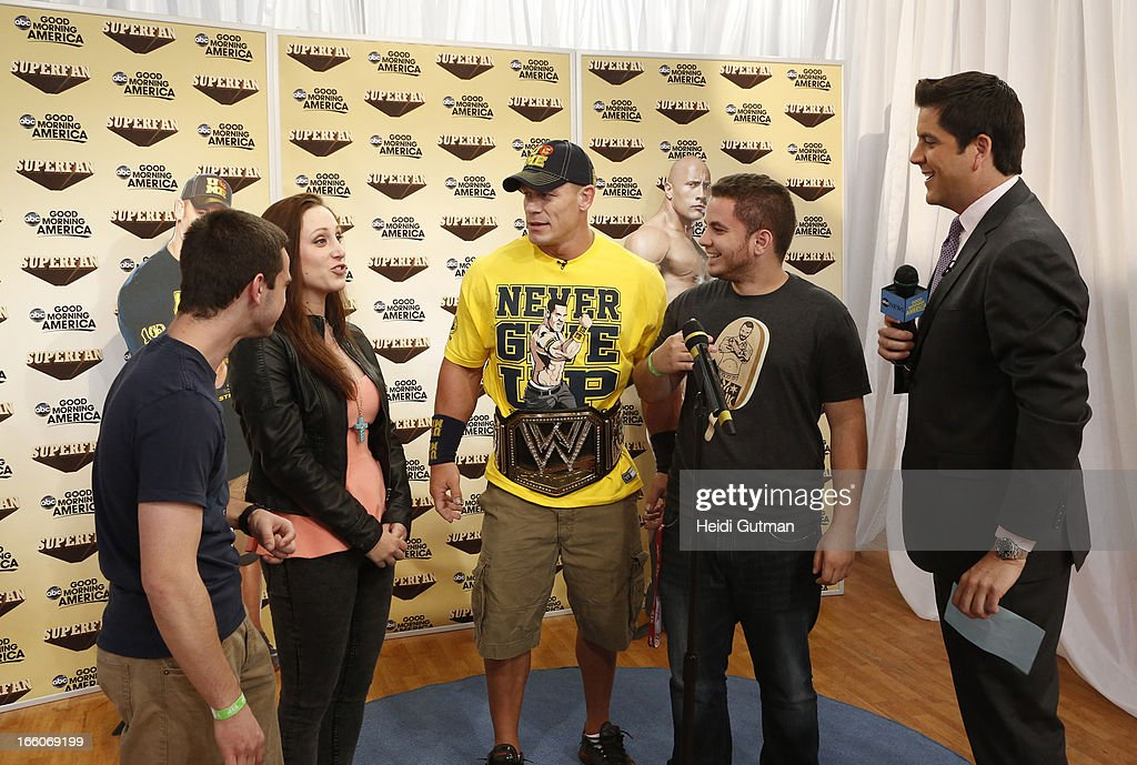 AMERICA - Professional Wrestler John Cena is a guest on 'Good Morning America,' 4/8/13, airing on the ABC Television Network. (Photo by Heidi Gutman/ABC via Getty Images) FANS, JOHN
