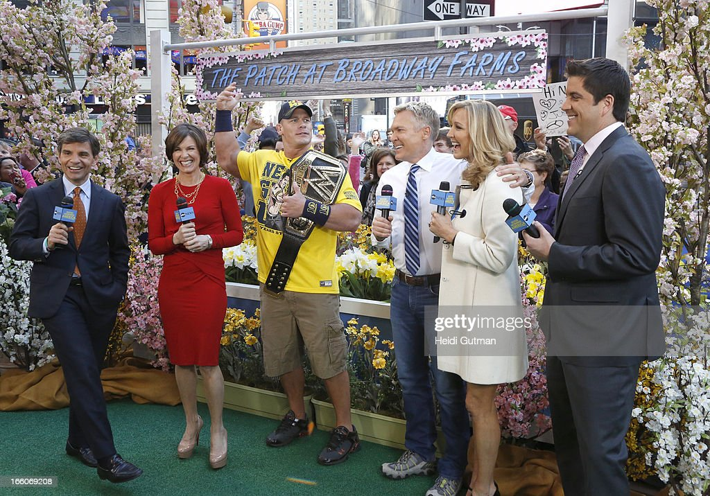 AMERICA - Professional Wrestler John Cena is a guest on 'Good Morning America,' 4/8/13, airing on the ABC Television Network. (Photo by Heidi Gutman/ABC via Getty Images) GEORGE