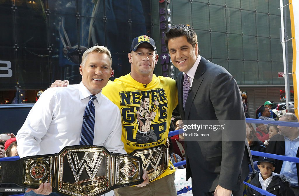 AMERICA - Professional Wrestler John Cena is a guest on 'Good Morning America,' 4/8/13, airing on the ABC Television Network. (Photo by Heidi Gutman/ABC via Getty Images) SAM