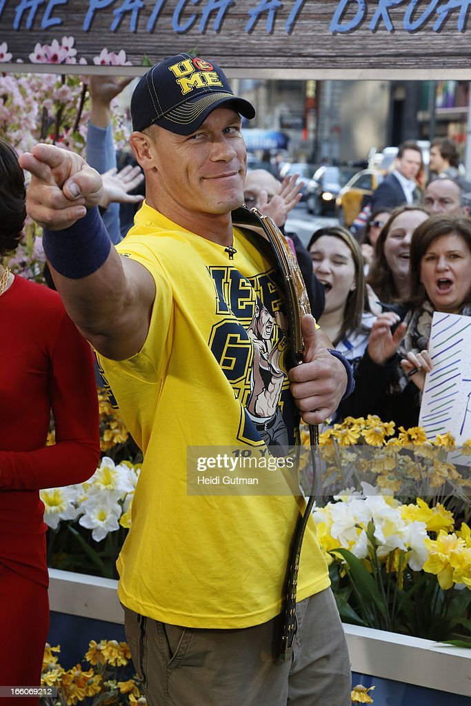 AMERICA - Professional Wrestler John Cena is a guest on 'Good Morning America,' 4/8/13, airing on the ABC Television Network. (Photo by Heidi Gutman/ABC via Getty Images) JOHN
