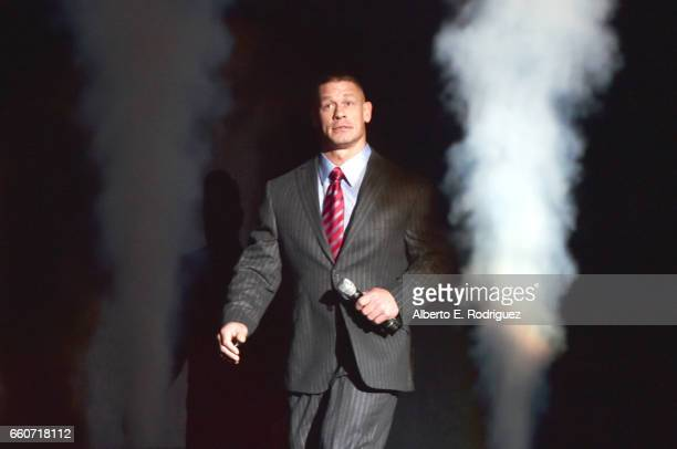 Professional wrestler John Cena speaks onstage at CinemaCon 2017 20th Century Fox Invites You to a Special Presentation Highlighting Its Future...