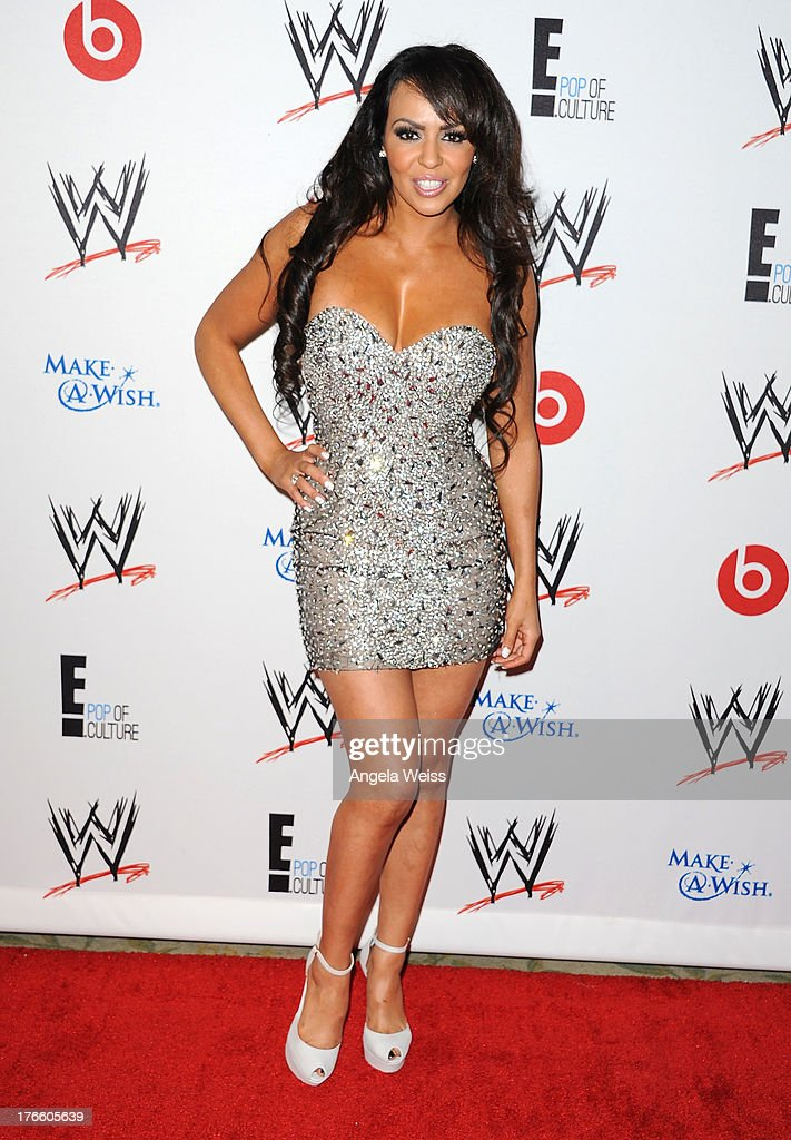 Professional wrestler Layla El arrives at WWE and E! Entertainment's 'Superstars For Hope' at Beverly Hills Hotel on August 15, 2013 in Beverly Hills, California.