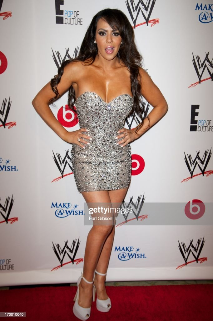 Professional wrestler Layla El attends the WWE SummerSlam VIP Party at Beverly Hills Hotel on August 15, 2013 in Beverly Hills, California.