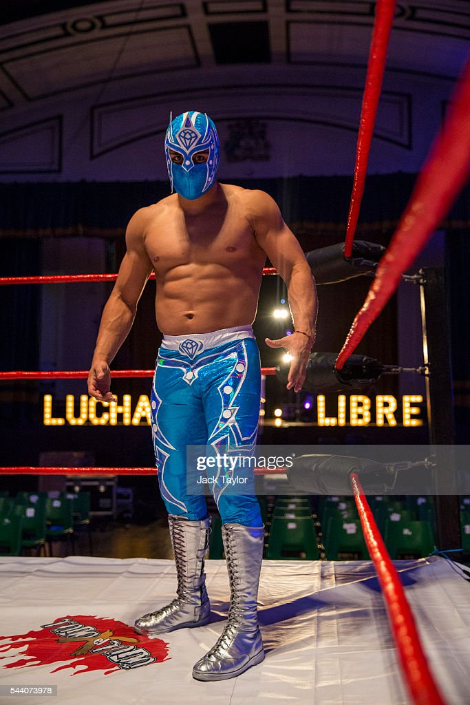 Professional wrestler Magnifico poses during a photo call at York Hall in Bethnal Green on July 1, 2016 in London, England. A number of luchadores will perform in 'The Greatest Spectacle of Lucha Libre', which takes place over two days and features Mexican and British stars from the world of Mexican Wrestling.