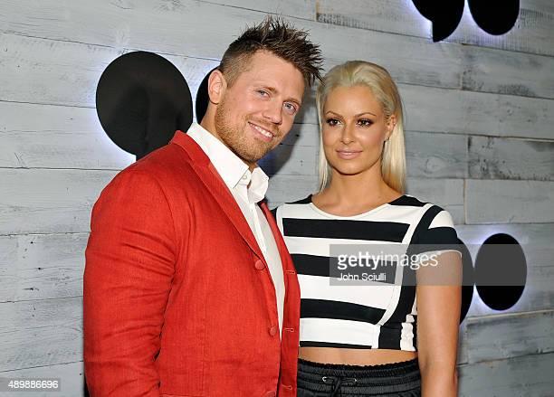 Professional wrestler Michael 'The Miz' Mizanin and model Maryse Ouellet attend the VIP sneak peek of the go90 Social Entertainment Platform at the...