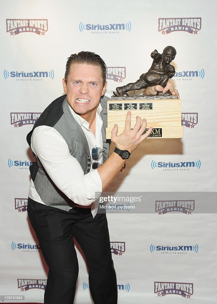 Professional wrestler Mike 'The Miz' Mizanin attends the SiriusXM Celebrity Fantasy Football Draft at Hard Rock Cafe - Times Square on July 17, 2013 in New York City.