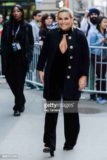 Professional wrestler Natalya Neidhart leaves the 'AOL Build' taping at the AOL Studios on April 13 2017 in New York City