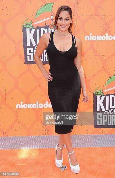 Professional wrestler Nikki Bella arrives at Nickelodeon Kids' Choice Sports Awards 2016 at UCLA's Pauley Pavilion on July 14 2016 in Westwood...