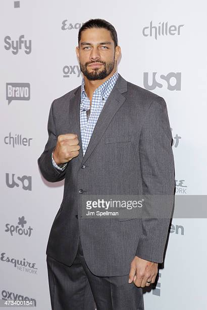 Professional Wrestler Roman Reigns attends the 2015 NBCUniversal Cable Entertainment Upfront at The Jacob K Javits Convention Center on May 14 2015...