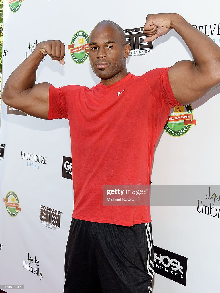 Professional wrestler Shad Gaspard attends The 4th annual Alex Thomas Celebrity Golf Classic presented by Belvedere at Mountain Gate Country Club on July 15, 2013 in Los Angeles, California.