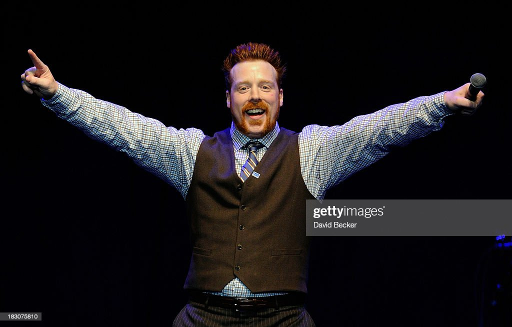 Professional wrestler Sheamus speaks during the 'UniteLIVE: The Concert to Rock Out Bullying' at the Thomas & Mack Center on October 3, 2013 in Las Vegas, Nevada.