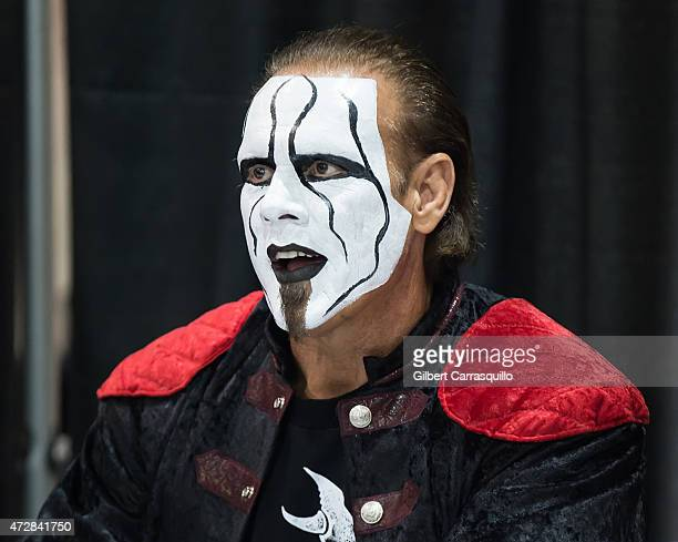 Professional Wrestler Steve Borden aka Sting attends day 3 of Wizard World Comic Con at Pennsylvania Convention Center on May 9 2015 in Philadelphia...