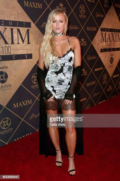 Professional wrestler Summer Rae attends the 2017 MAXIM Hot 100 Party at Hollywood Palladium on June 24 2017 in Los Angeles California