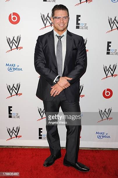Professional wrestler The Miz arrives at WWE and E Entertainment's 'Superstars For Hope' at Beverly Hills Hotel on August 15 2013 in Beverly Hills...
