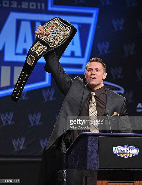 Professional wrestler The Miz attends the WrestleMania XXVII press conference at Hard Rock Cafe New York on March 30 2011 in New York City