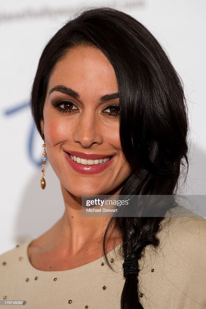 Professional wrestlers Brie Bella arrives at the 2013 Miss USA pageant at Planet Hollywood Resort & Casino on June 16, 2013 in Las Vegas, Nevada.