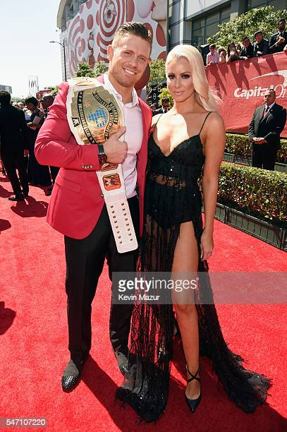 Professional wrestlers The Miz and Maryse Ouellet attend the 2016 ESPYS at Microsoft Theater on July 13 2016 in Los Angeles California