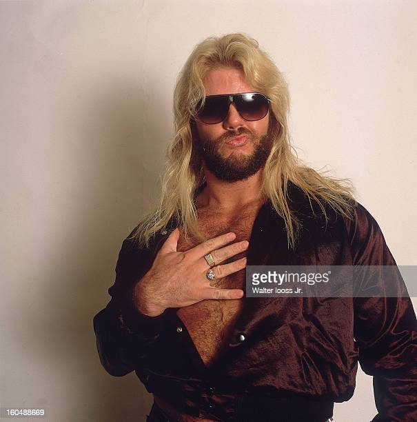 World Wrestling Federation Closeup portrait of Lord Michael Hayes posing during photo shoot at Madison Square Garden New York NY CREDIT Walter Iooss...