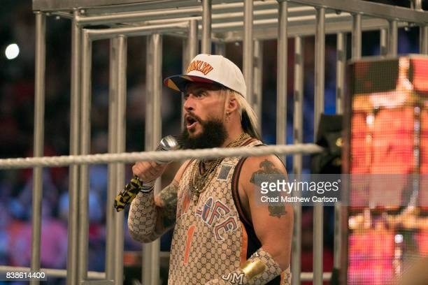WWE SummerSlam Enzo Amore during Big Cass vs Big Show match at Barclays Center Brooklyn NY CREDIT Chad Matthew Carlson