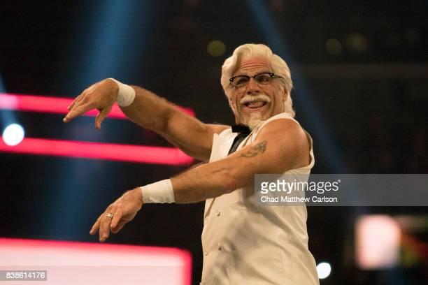 WWE SummerSlam Shawn Michaels as Colonel Sanders promoting KFC at Barclays Center Brooklyn NY CREDIT Chad Matthew Carlson