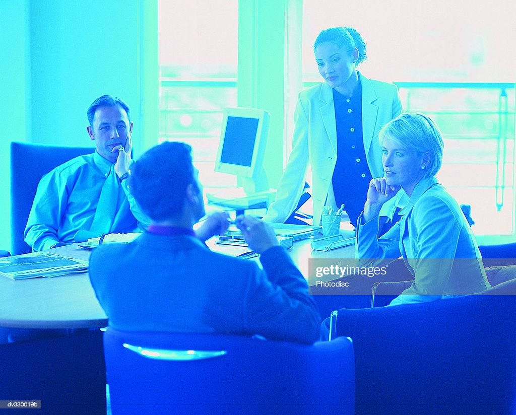Professionals meeting in office : Stock Photo
