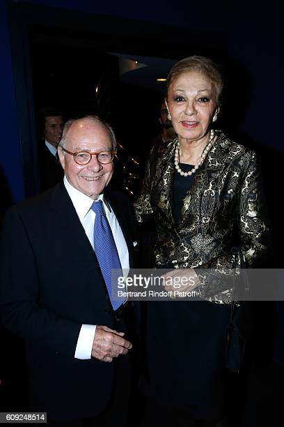 Professor Alain Pompidou and Farah Pahlavi attend the 'Cezanne et Moi' movie Premiere to Benefit 'Claude Pompidou Foundation' Held at UGC Normandie...