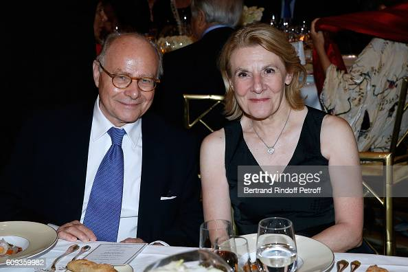 Professor Alain Pompidou and President of Versailles Castle Catherine Pegard attend the Charity Dinner to Benefit 'Claude Pompidou Foundation'...