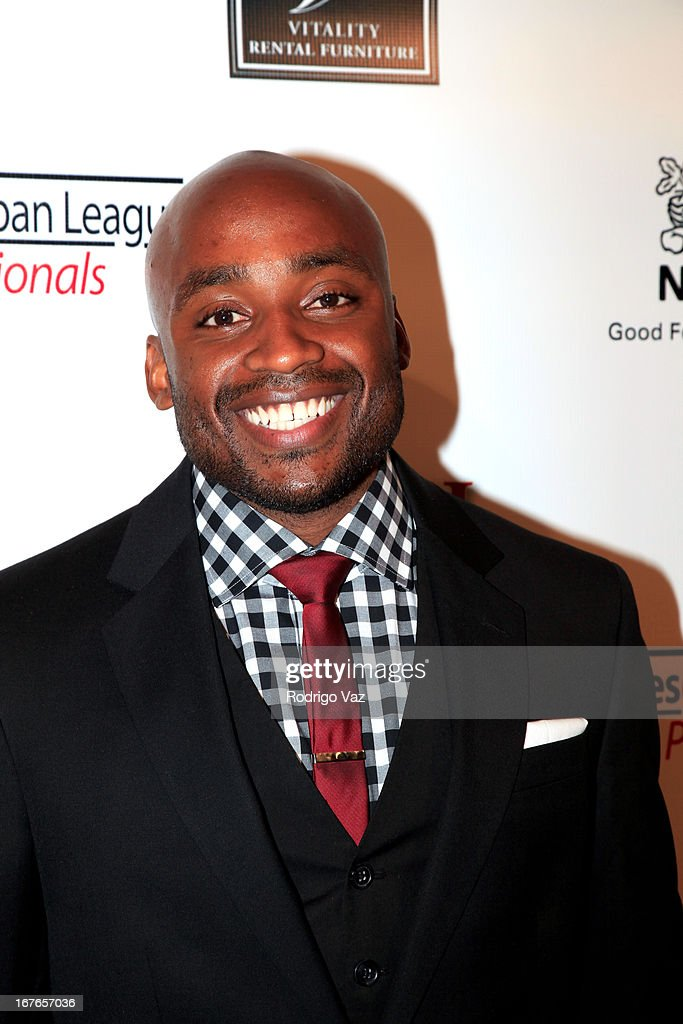 Professor and poet Dr Javon Johnson arrives at the 3rd Annual 'To The Nines' After Party hosted by LA Urban League Young ProfessionalsThe Beverly Hilton Hotel on April 26, 2013 in Beverly Hills, California.