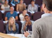 Professor and students in lecture hall