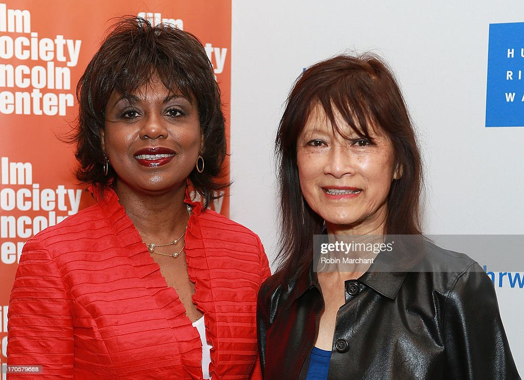 Professor Anita Hill (L) and filmmaker Freida Mock attend the 'Anita' Premiere during the 2013 Human Rights Watch Film Festival at The Film Society of Lincoln Center, Walter Reade Theatre on June 14, 2013 in New York City.