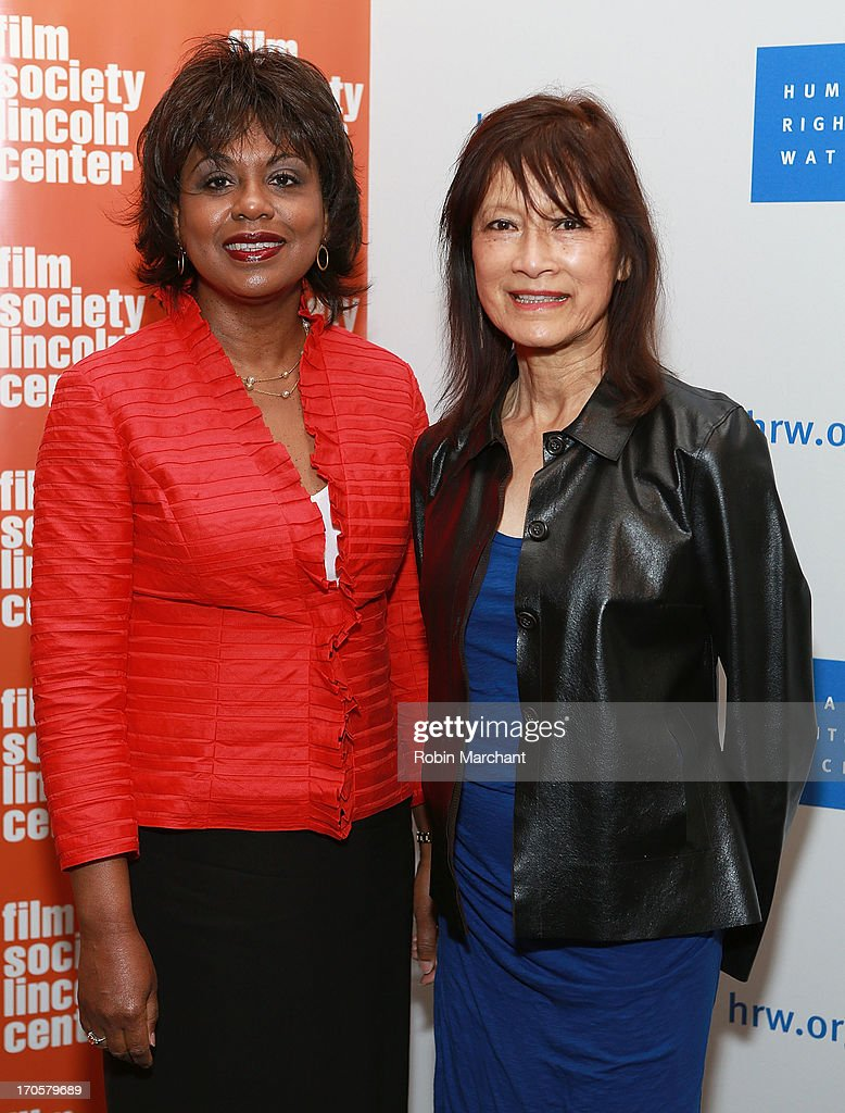 Professor <a gi-track='captionPersonalityLinkClicked' href=/galleries/search?phrase=Anita+Hill&family=editorial&specificpeople=655733 ng-click='$event.stopPropagation()'>Anita Hill</a> (L) and filmmaker Freida Mock attend the 'Anita' Premiere during the 2013 Human Rights Watch Film Festival at The Film Society of Lincoln Center, Walter Reade Theatre on June 14, 2013 in New York City.