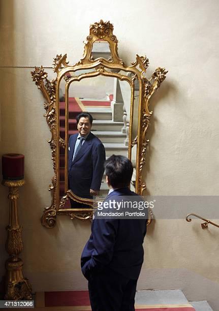 Professor Armando Verdiglione posing for a photo shoot at Villa San Carlo Borromeo on June 18th 2011 in Senago Italy