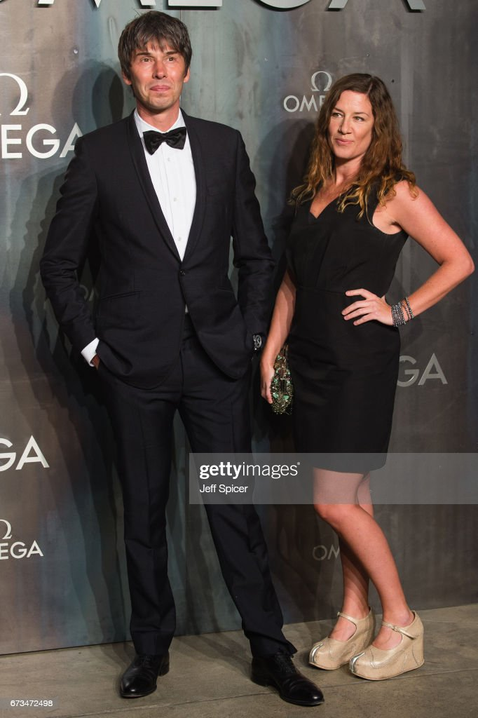 Professor Brian Cox and Gia Milinovich attends the Lost In Space event to celebrate the 60th anniversary of the OMEGA Speedmaster, which has been worn by every piloted NASA mission since 1965 at Tate Modern on April 26, 2017 in London, United Kingdom.