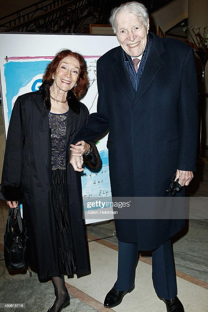 Professor Christian Cabrol and guest attend the 'Gala de l'Espoir' hosts by the Ligue Contre Le Cancer at Theatre des Champs-Elysees on November 19, 2013 in Paris, France.