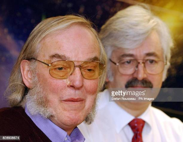 Professor Colin Pillinger and Professor David Southwood Head of Science at the European Space Agency attend a press conference in London where they...